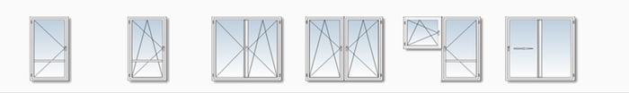 balkonové dveře - ilustrace